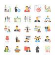 human resource flat icons vector image vector image