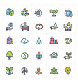 icon set - environment full color vector image vector image