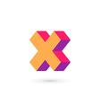 Letter X cross logo icon design template elements vector image