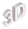 Lettering isometric 3d icon vector image