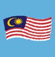 malaysia - jalur gemilang - flag flying vector image vector image