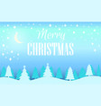 merry christmas winter landscape with snowflakes vector image vector image