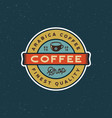 modern vintage coffee shop label vector image vector image