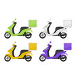 motorbike colored views of delivery service vector image vector image