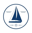 Nautical label Yacht icon vector image