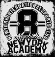 new york athletic sport training typography vector image vector image