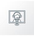 online consultation icon line symbol premium vector image