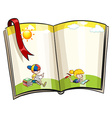 Open book vector image vector image