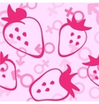 pink strawberry seamless pattern vector image