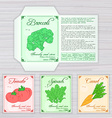 Printable template of seed packet with image name vector image