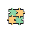 puzzle jigsaw square integrity problem vector image