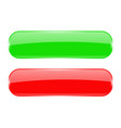 red and green oval buttons vector image
