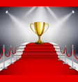 Red Carpet With Trophy vector image vector image
