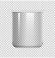 round beaker on transparent background vector image vector image