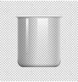 round beaker on transparent background vector image vector image