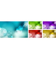 set abstract blurred blue sky green nature vector image vector image