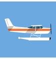 Small amphibian seaplane vector image vector image