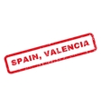 Spain Valencia Rubber Stamp vector image vector image