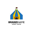 tent tent circus business logo template flat color vector image vector image