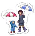 under a rain vector image vector image