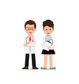young professional medical team workers vector image vector image