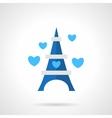 Flat blue romantic trip icon vector image
