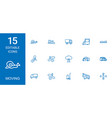 15 moving icons vector image vector image