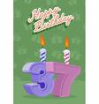 37 year Happy Birthday Card vector image vector image