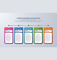 5 steps infographic with different color vector image vector image