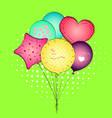 a toy balloon or party balloon pop art set vector image