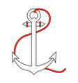 anchor nautical icon image vector image