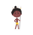 australian or african aboriginal boy in national vector image vector image
