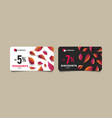 autumn discount cards template with colorful vector image vector image