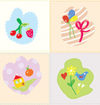 Baby cards set - cut design vector image vector image