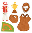 baseball sport competition game team symbol vector image vector image