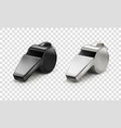 black and white whistle vector image