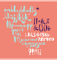 bold calligraphic playful font with ink texture vector image