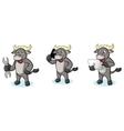Buffalo Gray Mascot with laptop vector image vector image