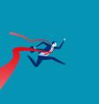 businessman reaching finish line concept vector image