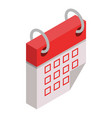 calendar busy month icon isometric style vector image