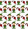 Christmas background Elf vector image