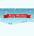 Christmas background with tree and snow fall vector image
