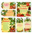 christmas holiday party tag and greeting card vector image vector image
