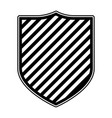 coat of arms monochrome and striped vector image vector image