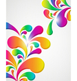 Colorful abstract drops vector image vector image