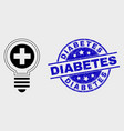 contour medical bulb icon and distress vector image vector image