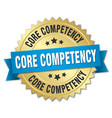 core competency round isolated gold badge vector image vector image
