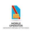democratic republic of the congo mobile operator vector image