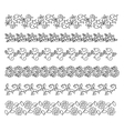 Doodle style brushes for your creative decorative vector image vector image