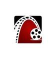 dynamic filmstrip logo design template vector image vector image